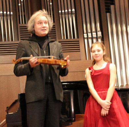 Скрипка в подарок ученице МССМШ им.Гнесиных